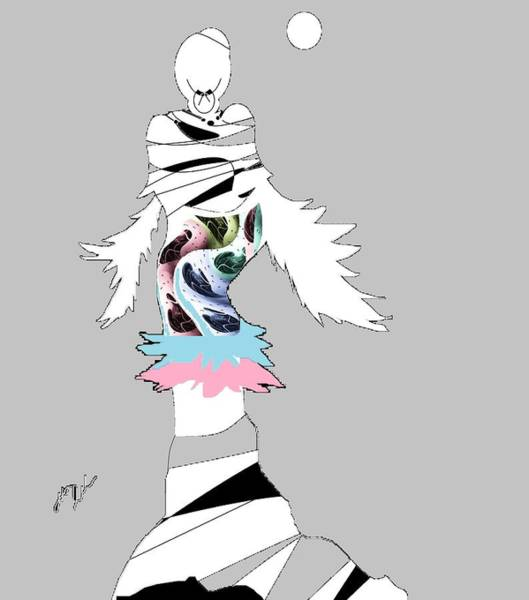 Digital Art - Broken Wings 3 by Ann Calvo