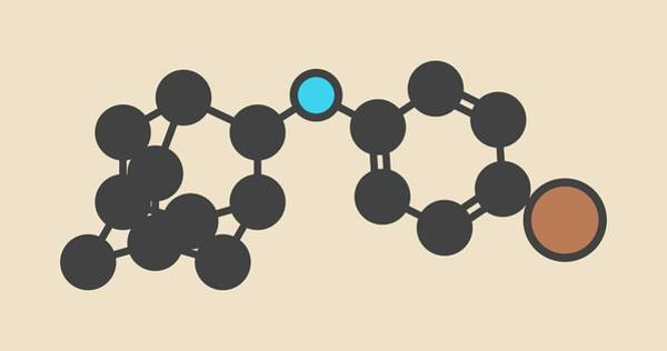 Wall Art - Photograph - Bromantane Asthenia Drug Molecule by Molekuul/science Photo Library