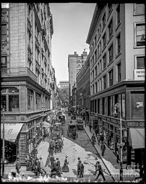 Photograph - Bromfield Street Boston by Russell Brown