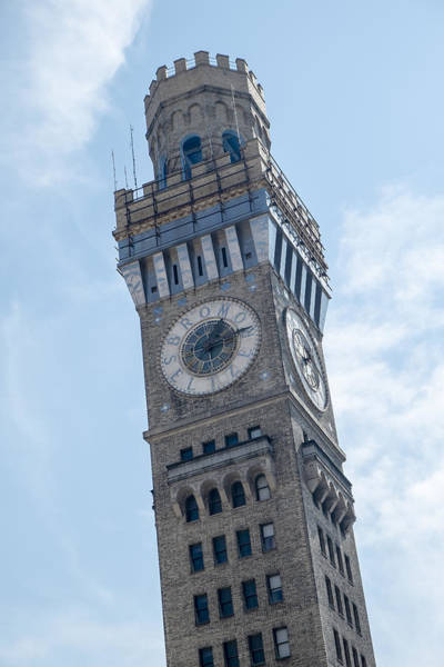 Photograph - Bromo Seltzer Clock Tower by Susan Candelario