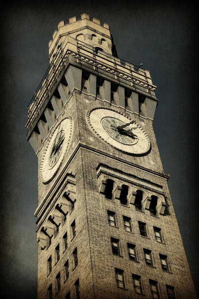 Baltimore Oriole Wall Art - Photograph - Bromo Seltzer Tower No 7 by Stephen Stookey