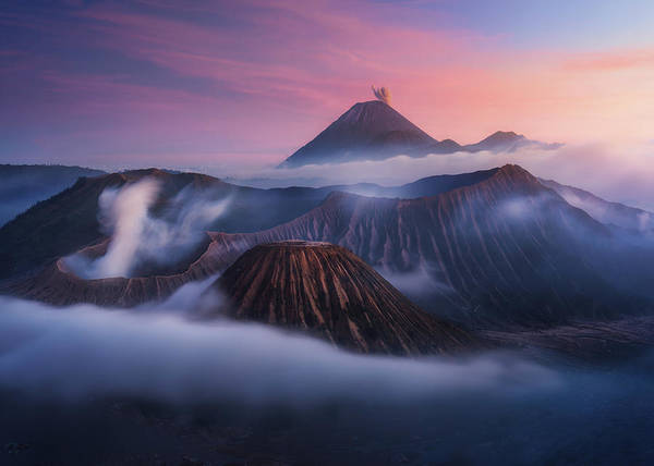 Active Volcano Photograph - Bromo Vs Semeru. by Juan Pablo De