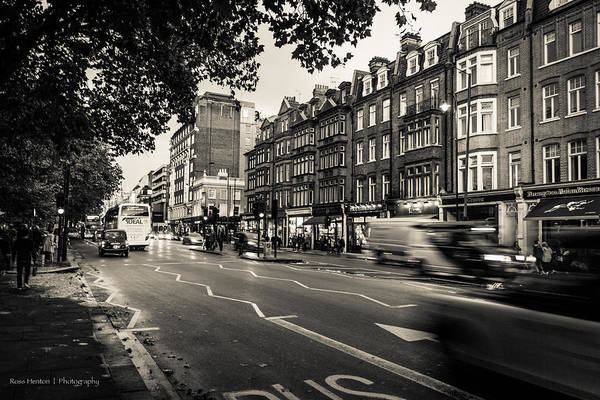 Photograph - Brompton Road Knightsbridge by Ross Henton