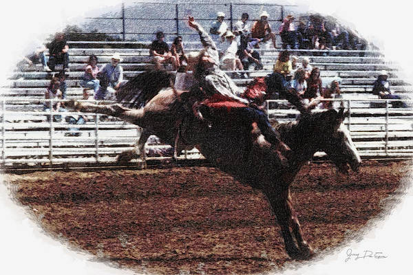 Bronco Rider Reno Rodeo Art Print