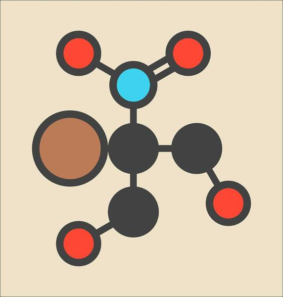 Preservative Wall Art - Photograph - Bronopol Preservative Molecule by Molekuul
