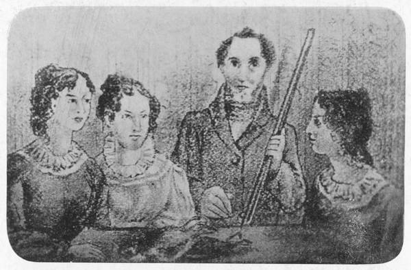 Wall Art - Drawing - Bronte Family  A Family Portrait Of by Mary Evans Picture Library