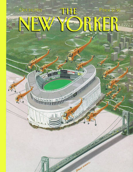 Helicopter Painting - New Yorker October 18th, 1993 by Bruce McCall