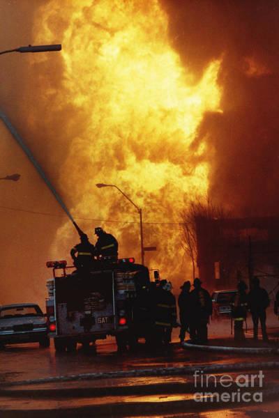 Bronx Gas Explosion Art Print