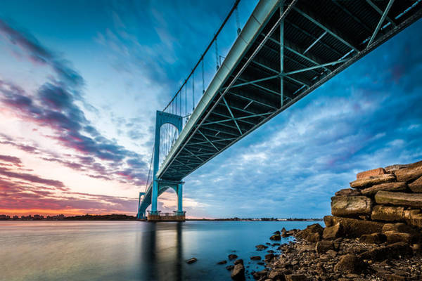 Photograph - Bronx Whitestone Bridge by Mihai Andritoiu