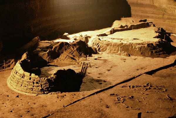Bronze Age Archaeological Site Art Print by Pasquale Sorrentino/science Photo Library