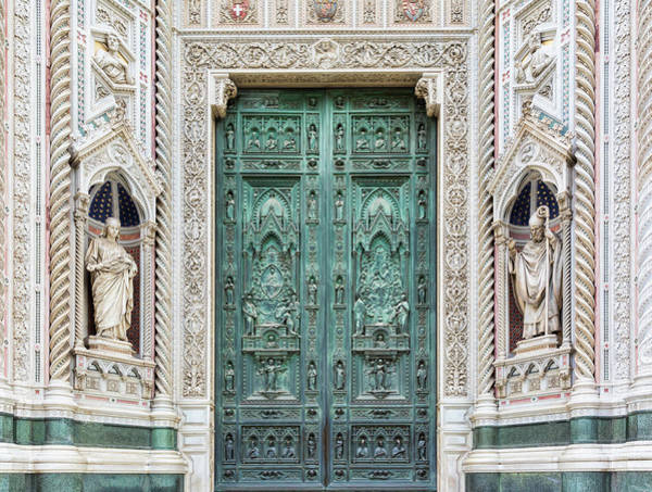 Art And Craft Photograph - Bronze Doors To The Duomo Santa Maria by Terryj