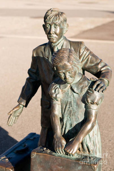 Photograph - Bronze Immigrants by Rick Piper Photography