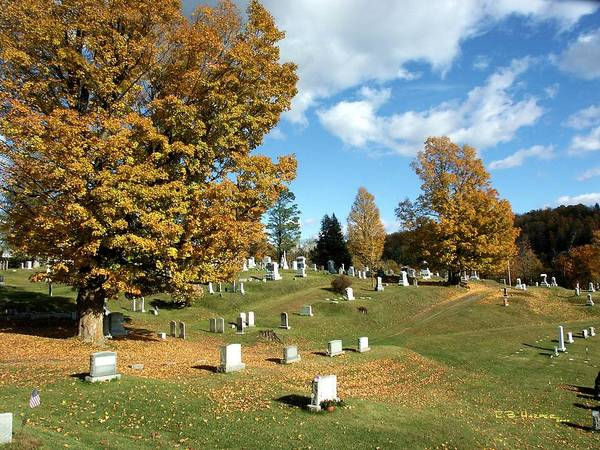 Photograph - Brookfield Cemetary by R B Harper