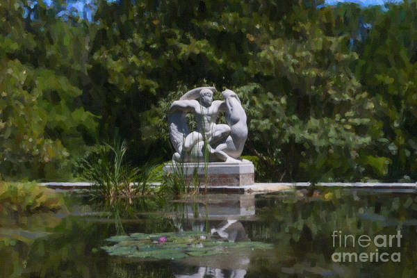 Photograph - Brookgreen Gardens Statue by Dale Powell