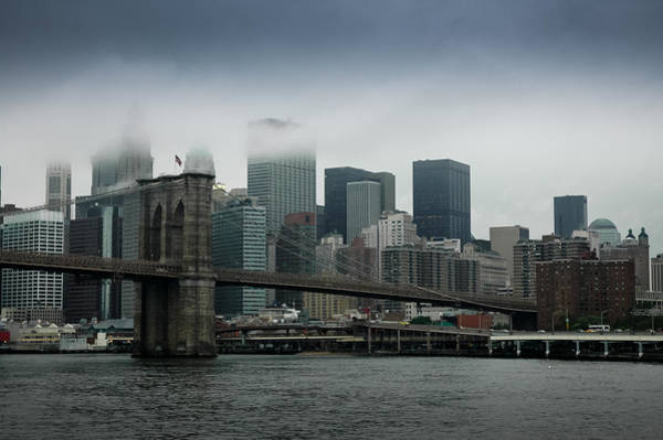 Photograph - Brooklyn Bridge - Lower Manhattan by Frank Mari