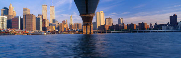 N.c Wall Art - Photograph - Brooklyn Bridge & Manhattan Skyline by Panoramic Images