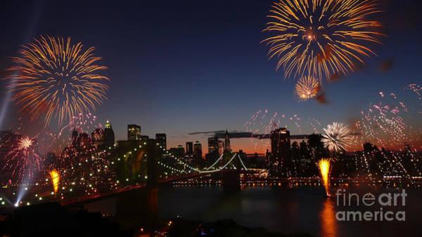Photograph - Brooklyn Bridge 125th Anniversary Celebration by Steven Spak