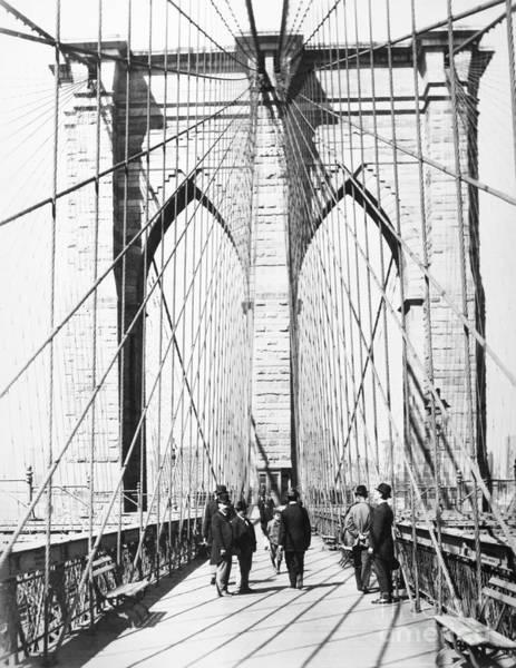 Wall Art - Photograph - Brooklyn Bridge, 1893 by Granger