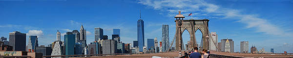 Photograph - Brooklyn Bridge And Lower Manhattan by Paulette B Wright