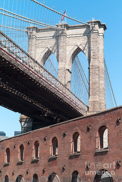 Photograph - Brooklyn Bridge And The Tobacco Warehouse I by Clarence Holmes