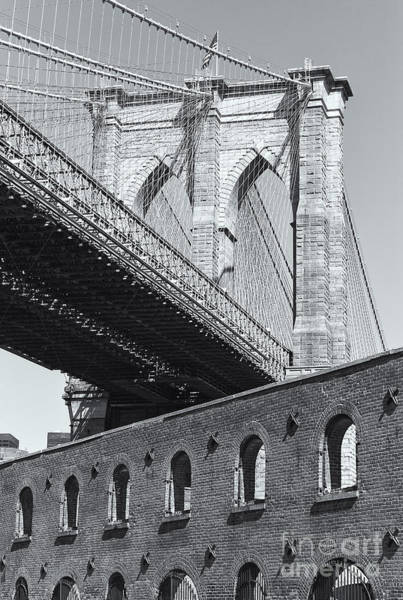 Photograph - Brooklyn Bridge And The Tobacco Warehouse II by Clarence Holmes