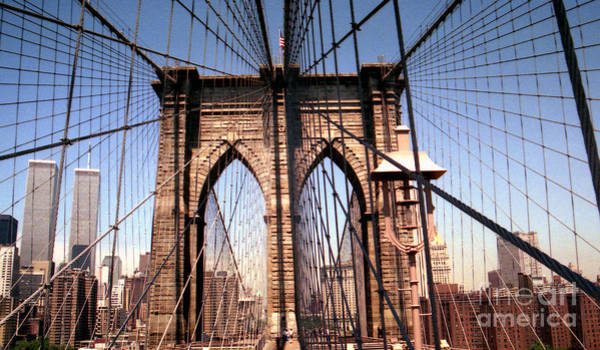 Brooklyn Bridge Before 9/11/01 Art Print