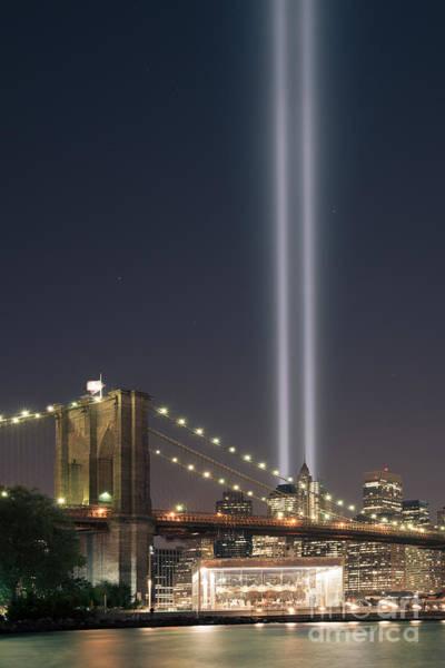 Nine Eleven Photograph - Brooklyn Bridge Carousel Version 2 by Michael Ver Sprill