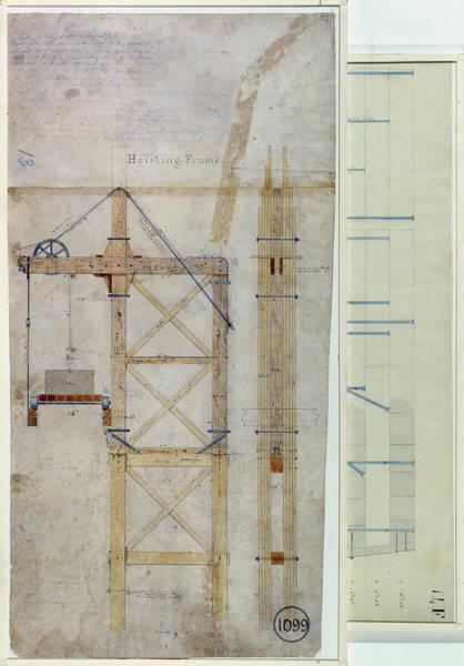 Photograph - Brooklyn Bridge: Diagram by Granger