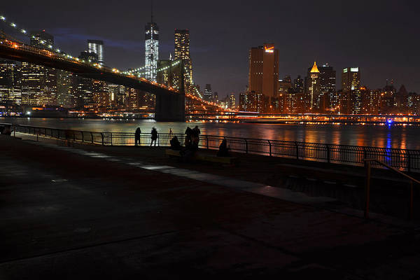 Photograph - Brooklyn Bridge From Empire Fulton Ferry Park by Toby McGuire