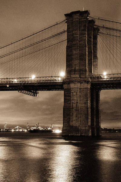 Photograph - Brooklyn Bridge Golden Hour by Gary Heller