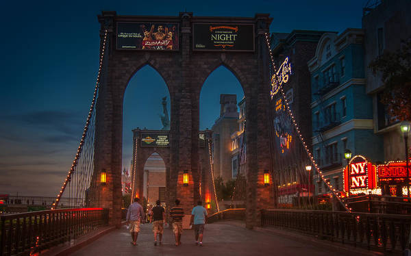 Photograph - Brooklyn Bridge In Las Vegas by Eduardo Tavares