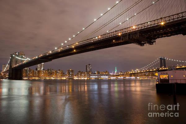 Brooklyn Bridge Lights Art Print