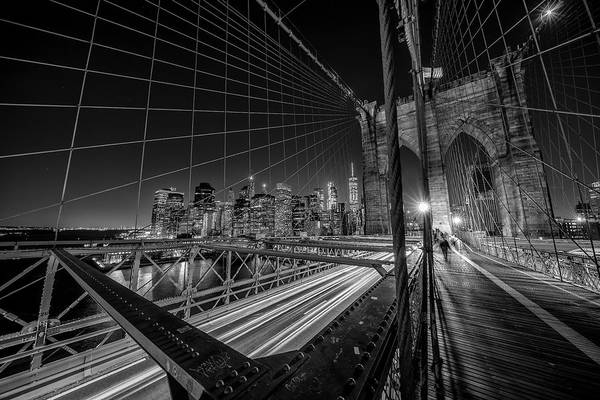 Wall Art - Photograph - Brooklyn Bridge Lights by Stefan Schilbe