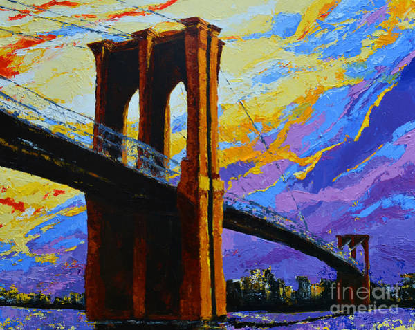 Painting - Brooklyn Bridge New York Landmark by Patricia Awapara