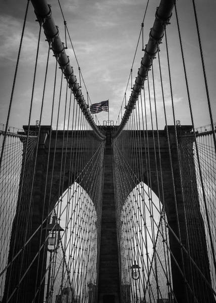 Mono Photograph - Brooklyn Bridge by Nicklas Gustafsson