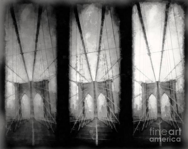 Photograph - Brooklyn Bridge Nyc by Edward Fielding