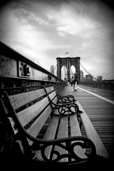 Photograph - Brooklyn Bridge Promenade by Jessica Jenney