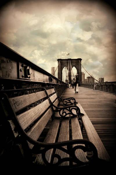 Photograph - Brooklyn Bridge Respite by Jessica Jenney