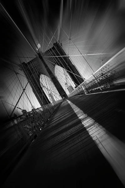 Wire Photograph - Brooklyn Bridge by Sebastien Del Grosso