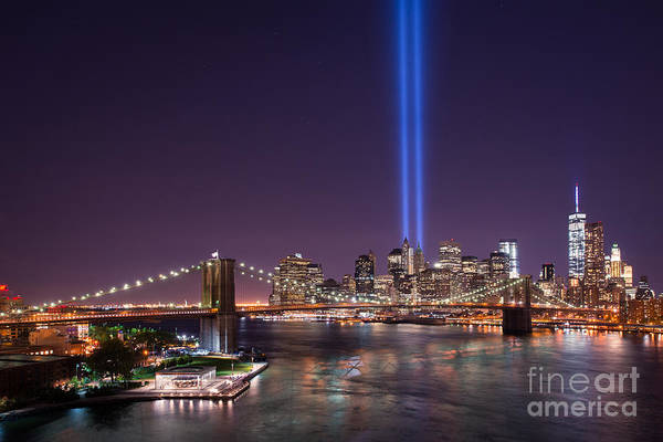 Liberty Bridge Photograph - Brooklyn Bridge September 11 Version 2  by Michael Ver Sprill