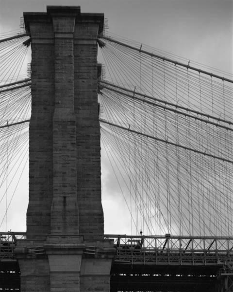 Photograph - Brooklyn Bridge Side View by Dave Beckerman