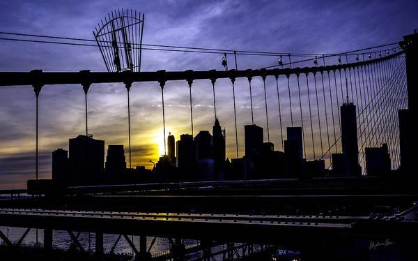 Wall Art - Photograph - Brooklyn Bridge Silhouette by Madeline Ellis