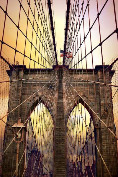 Photograph - Brooklyn Bridge Sunrise by Jessica Jenney