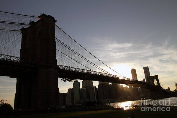 Photograph - Brooklyn Bridge Sunset by Steven Spak