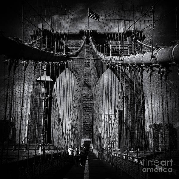 Sabine Photograph - Brooklyn Bridge Up Close New York City by Sabine Jacobs