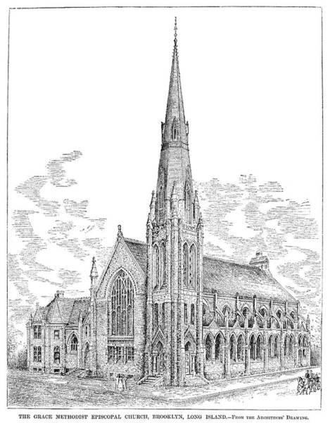 Wall Art - Painting - Brooklyn Church, 1883 by Granger