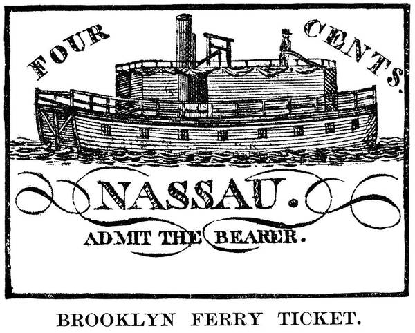 Painting - Brooklyn Ferry Ticket by Granger