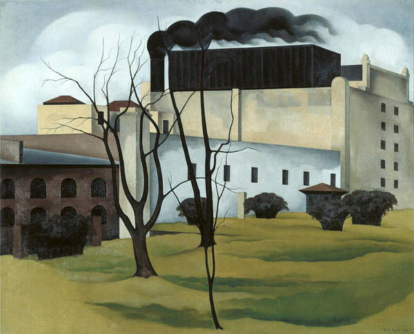 Painting - Brooklyn Ice House by George Ault