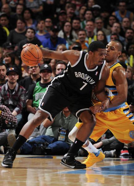 Sport Photograph - Brooklyn Nets V Denver Nuggets by Garrett Ellwood