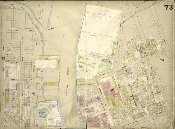 Ashes Drawing - Brooklyn, Vol. 4, Double Page Plate No. 73 Map Bounded by Litz Collection